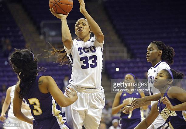 Texas Christian's Donielle Breaux scores in the first half against Prairie View AM at DanielMeyer Coliseum in Fort Worth Texas on Saturday Dec 28 2013