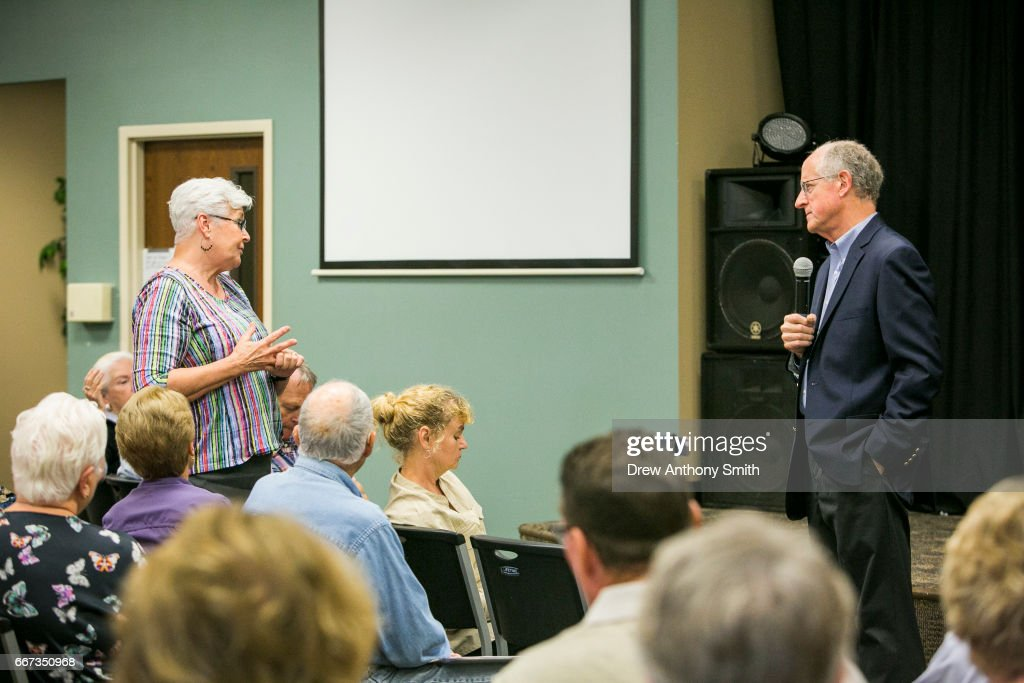 Rep. Mike Conaway  Holds A Town Hall Meeting In Llano, Texas