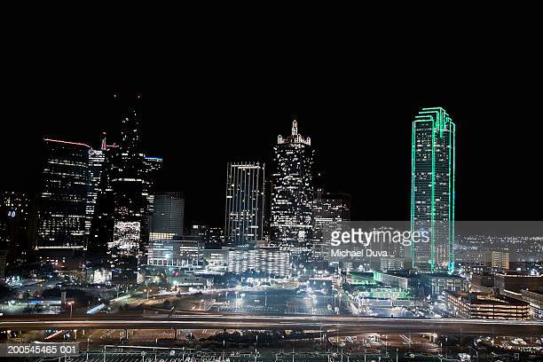 USA, Texas, Dallas, Skyline at night