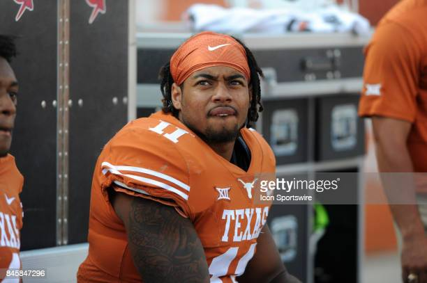 Texas DB P J Locke watches action during game between the Texas Longhorns and the San Jose State Spartans on September 9 2017 at Darrell K RoyalTexas...
