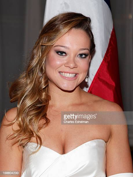 Texas debutante Haley Alexis Anderson debutante attends the 58th International Debutante Ball at The WaldorfAstoriaon December 29 2012 in New York...