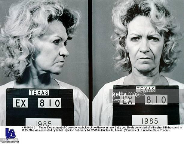 Texas Department Of Corrections Photos Of Death Row Inmate Betty Lou Beets Convicted Of Killing Her Fifth Husband In 1985 She Was Executed By Lethal...