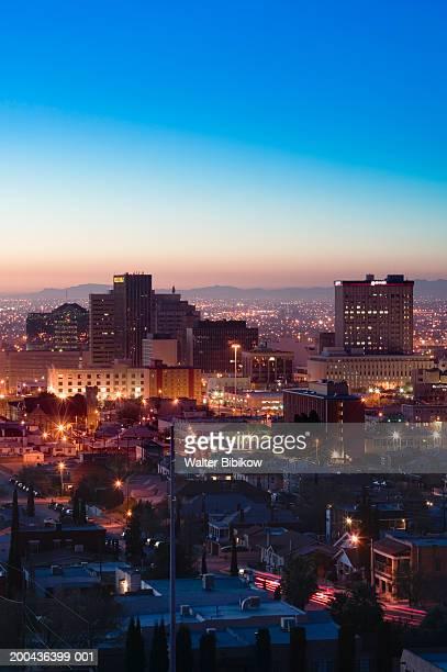 usa, texas, el paso downtown skyline, dawn (long exposure) - テキサス州エルパソ市 ストックフォトと画像
