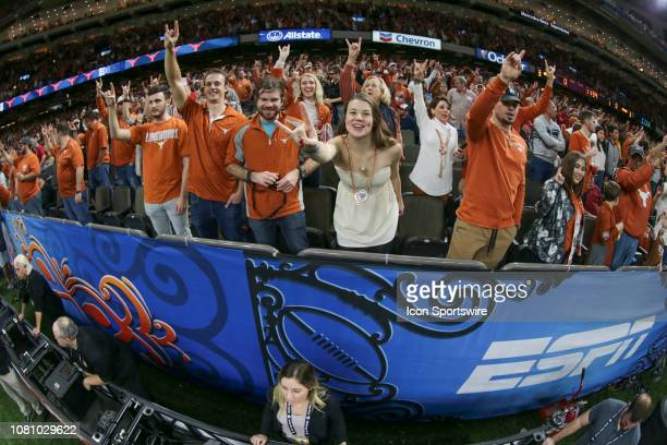 Texas fans during the Allstate Sugar Bowl game between the Georgia Bulldogs and the Texas Longhorns on January 1 2019 at the MercedesBenz Superdome...