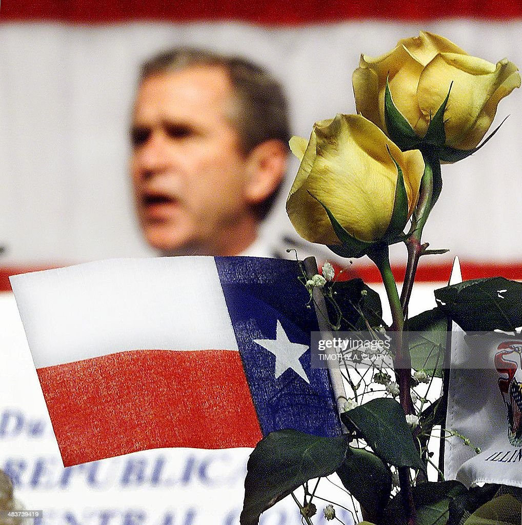 A Texas Flag And The Yellow Rose Of Texas Are Placed At The Head