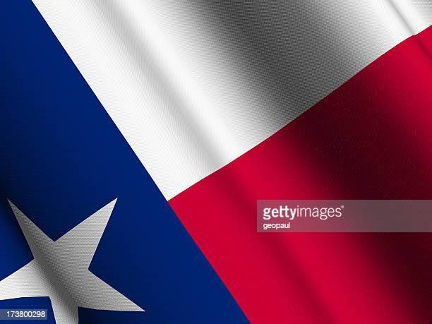 Texas flag close-up