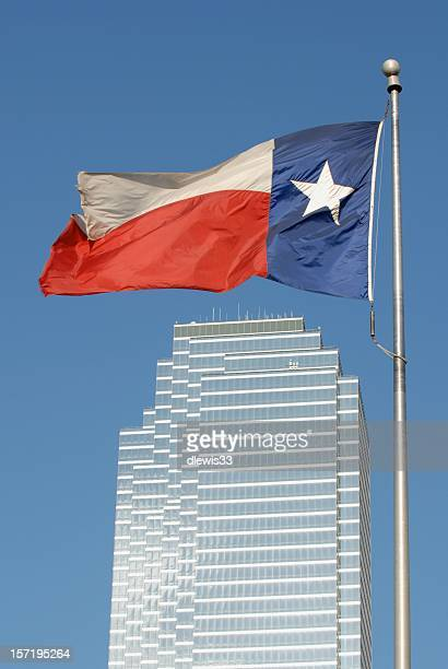 Texas Flag Over Dallas