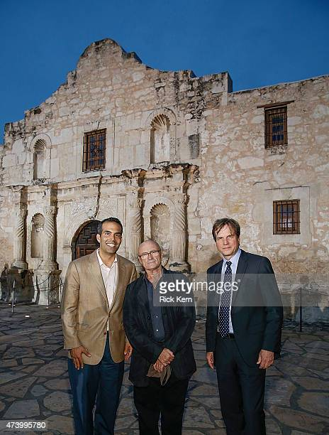 Texas General Land Commissioner George P Bush Phil Collins and Bill Paxton attend the Texas Honors event to celebrate the epic new HISTORY miniseries...