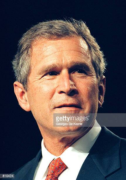 Texas Gov George W Bush during a campaign fundraising event June 22 1999 in Washington DC George W Bush is the frontrunner for the Republican...