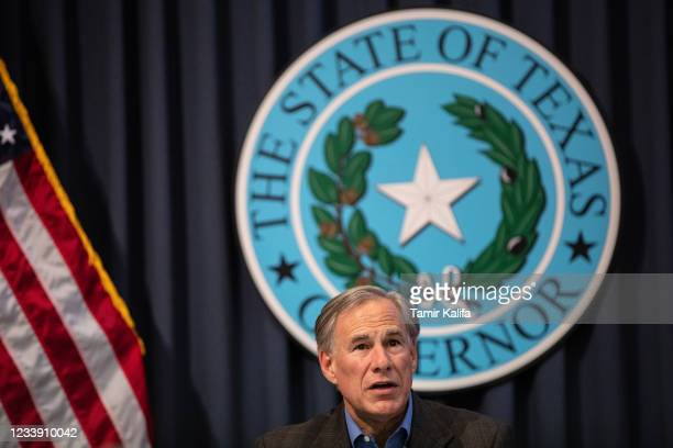 Texas Gov. Greg Abbott speaks during a border security briefing with sheriffs from border communities at the Texas State Capitol on July 10 in...