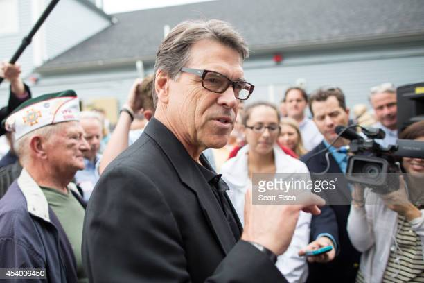 Texas Gov Rick Perry attends a GOP event August 23 2014 in Stratham New Hampshire Perry was recently indicted on felony charges of abuse of power and...