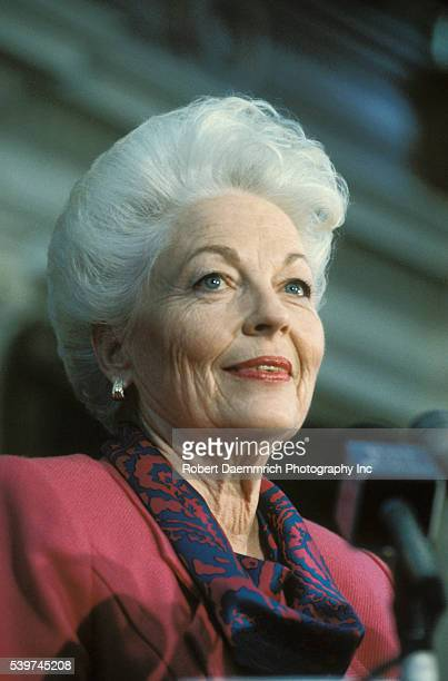 Texas Governor Ann Richards at her first press conference after winning the election In 2006 at age 72 Richards was diagnosed with cancer of the...
