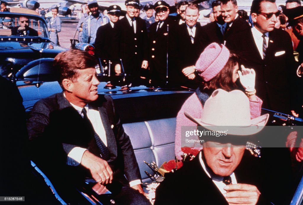 John and Jackie Kennedy with John Connally in Automobile