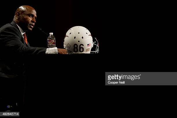 Texas head coach Charlie Strong speaks during the Big 12 Media Day on July 22 2014 at the Omni Hotel in Dallas Texas