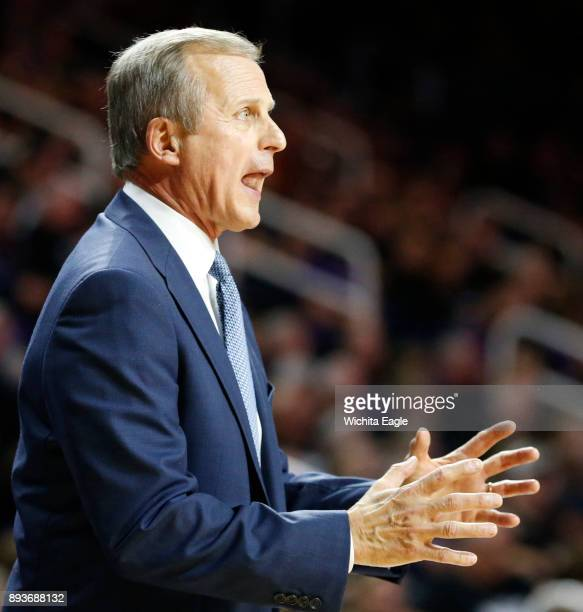 Texas head coach Rick Barnes yells out instructions to his players against Kansas State at Bramlage Coliseum in Manhattan Kan on Saturday Feb 7 2015
