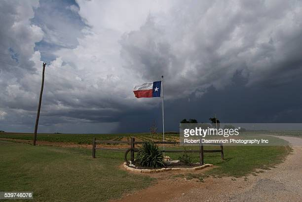 Texas homestead on Hwy 208 between Abilene and San Angelo showing the pride of the owners in the Lone Star State
