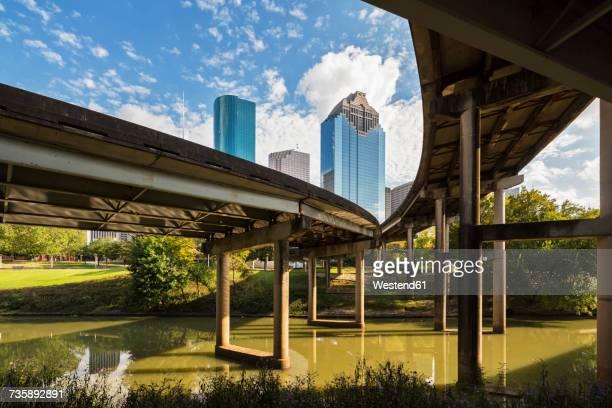 USA, Texas, Houston, Skyline and Gulf Freeway