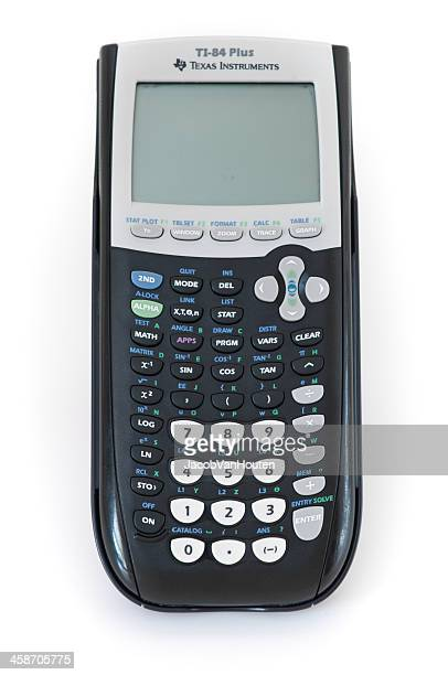 Texas Instruments TI-84 Plus Graphing Calculator Isolated on White