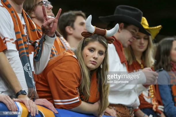 Texas Longhorn fan during the Allstate Sugar Bowl game between the Georgia Bulldogs and the Texas Longhorns on January 1 2019 at the MercedesBenz...