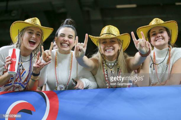 Texas Longhorn fans during the Allstate Sugar Bowl game between the Georgia Bulldogs and the Texas Longhorns on January 1 2019 at the MercedesBenz...