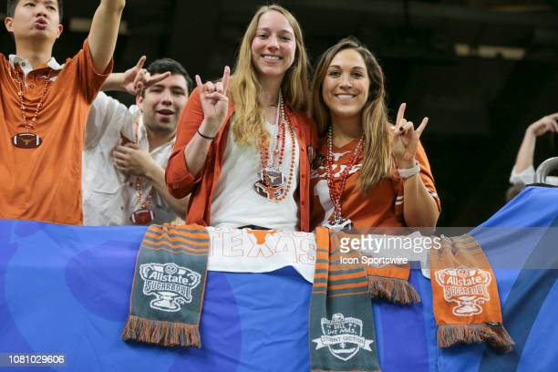 Texas Longhorn fans in the student section during the Allstate Sugar Bowl game between the Georgia Bulldogs and the Texas Longhorns on January 1 2019...