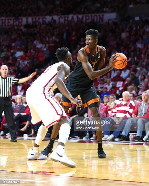 Texas Longhorns Center Mohamed Bamba during a college basketball game between the Oklahoma Sooners and the Texas Longhorns on February 17 at the...