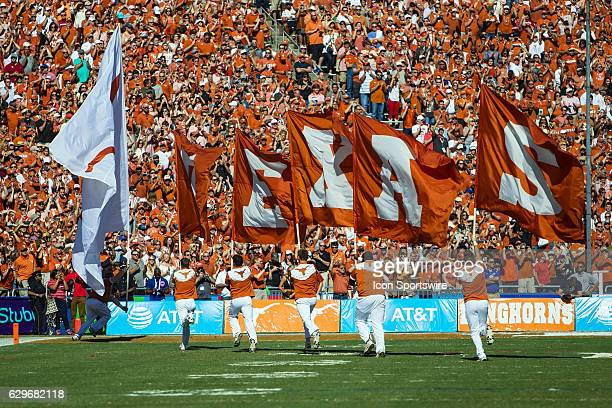 Texas Longhorns cheerleaders during the Oklahoma Sooners 4540 victory over the Texas Longhorns in their Red River Showdown on October at the Cotton...