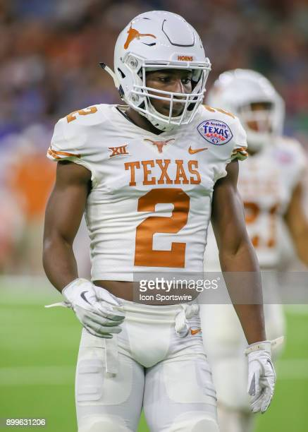 Texas Longhorns defensive back Kris Boyd approaches the line of scrimmage during the Texas Bowl game between the Texas Longhorns and Missouri Tigers...
