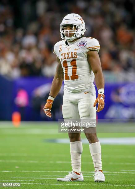 Texas Longhorns defensive back PJ Locke III looks to the sidelines for play instructions during the Texas Bowl game between the Texas Longhorns and...