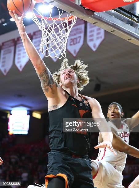 Texas Longhorns Forward Dylan Osetkowski with the reverse layup during a college basketball game between the Oklahoma Sooners and the Texas Longhorns...