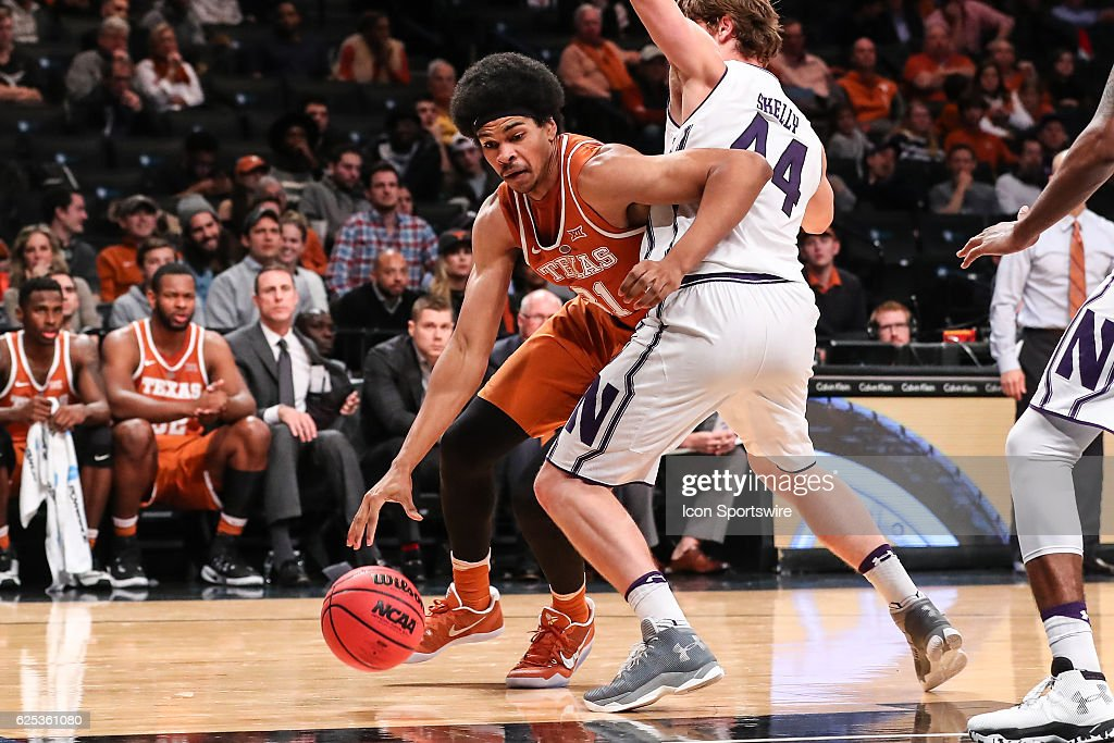 Texas Longhorns forward Jarrett Allen (31) during the second half of the NCAA basketball game between the Northwestern Wildcats and the Texas Longhorns on November 21, 2016, at Barclays Center in Brooklyn,NY.