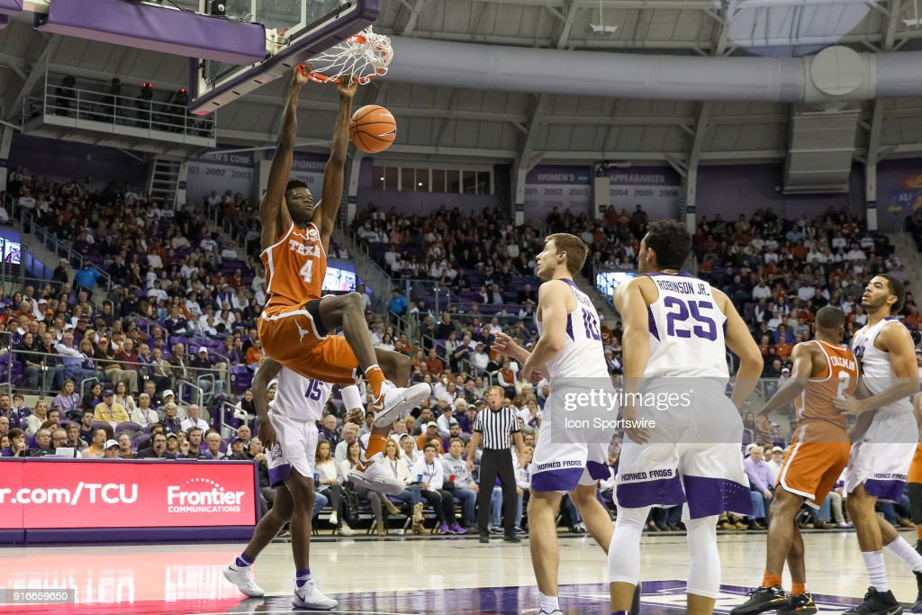 COLLEGE BASKETBALL: FEB 10 Texas at TCU : News Photo