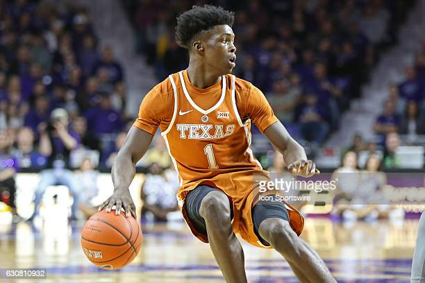 Texas Longhorns guard Andrew Jones in the second half of the Big 12 basketball opener between the Texas Longhorns and Kansas State Wildcats on...