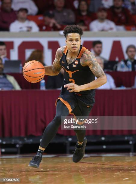 Texas Longhorns Guard Jacob Young during a college basketball game between the Oklahoma Sooners and the Texas Longhorns on February 17 at the Lloyd...