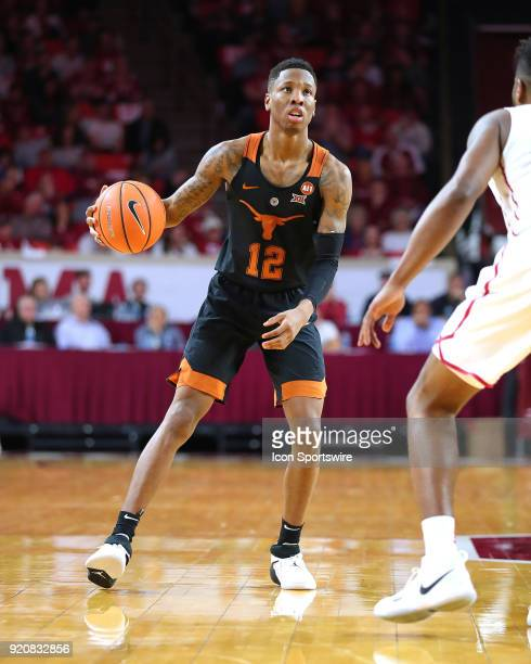 Texas Longhorns Guard Kerwin Roach II during a college basketball game between the Oklahoma Sooners and the Texas Longhorns on February 17 at the...