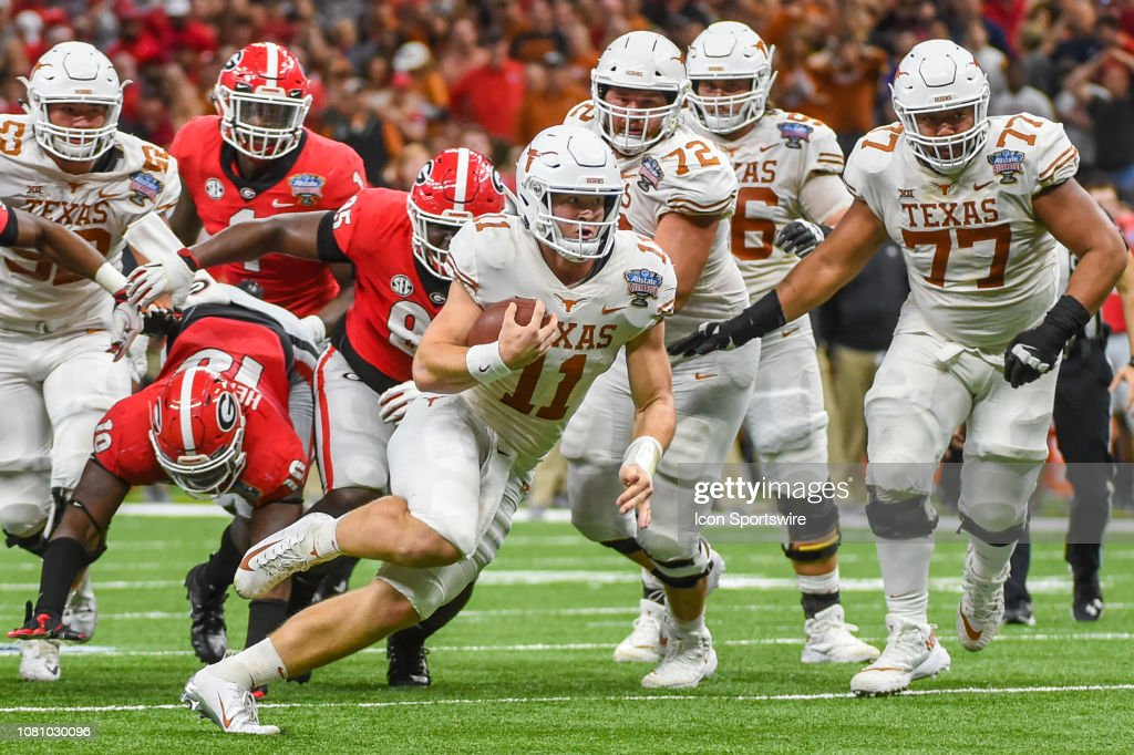 COLLEGE FOOTBALL: JAN 01 Sugar Bowl - Texas v Georgia : News Photo