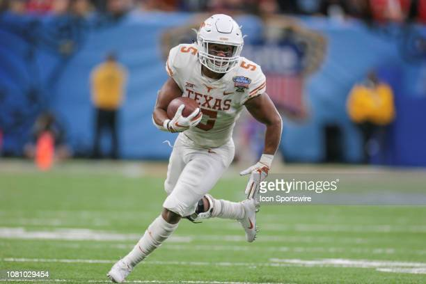 Texas Longhorns running back Tre Watson during the Allstate Sugar Bowl game between the Georgia Bulldogs and the Texas Longhorns on January 1 2019 at...