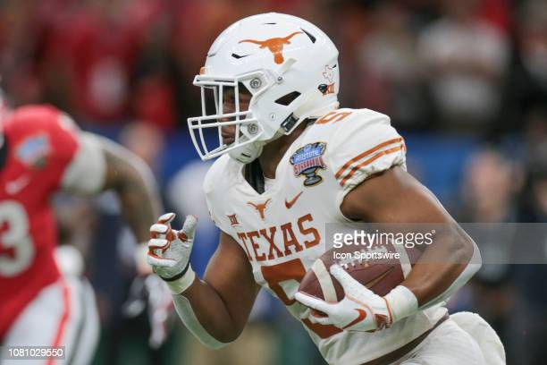 Texas Longhorns running back Tre Watson runs the ball during the Allstate Sugar Bowl game between the Georgia Bulldogs and the Texas Longhorns on...