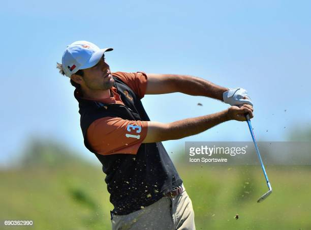 Texas Longhorns Scottie Scheffler plays the ball during round four of the 2017 Division I Men's Golf Championships on May 29 2017 at Rich Harvest...