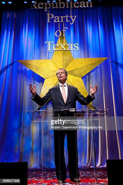 Texas Lt Governor David Dewhurst speaks at the biannual Texas Republican Convention in Dallas Over 5000 delegates from across the Lone Star State...