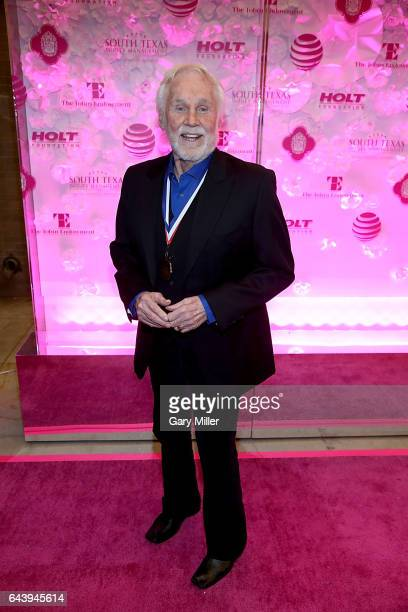 Texas Medal of Arts Lifetime Achievement recipient Kenny Rogers arrives at The Bass Concert Hall on February 22 2017 in Austin Texas