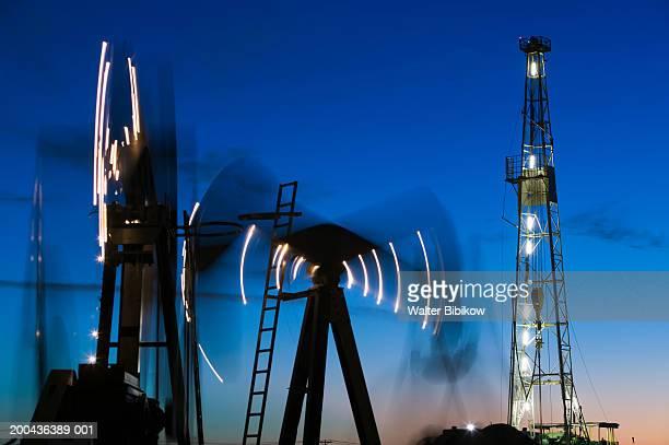 usa, texas, midland, permian basin petroleum museum, dusk - midland stock pictures, royalty-free photos & images