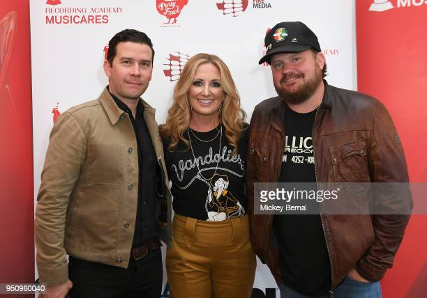 Texas Music Commissioner Brendon Anthony Recording Artists Lee Ann Womack and Randy Rogers attend MusiCares Country Music Night at AJ's Good Time Bar...