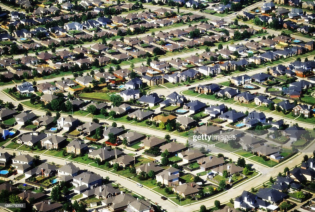 Texas neighborhood aerial : Stock Photo
