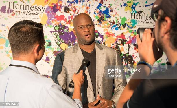 Texas quarterback and football legend Vince Young attends Hennessy VS Limited Edition by JonOne launch party at Native Hostel on July 18 2017 in...