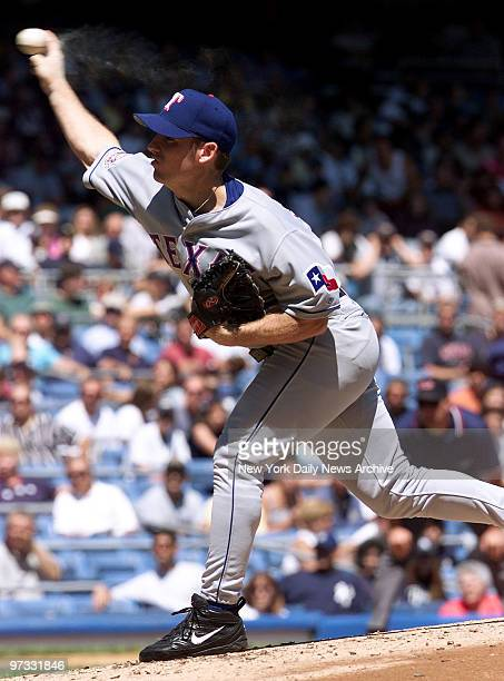 Texas Rangers' Brian Sikorski pitches against the New York Yankees at Yankee StadiumThe Yanks battered Texas 123 and Sikorski was charged with the...