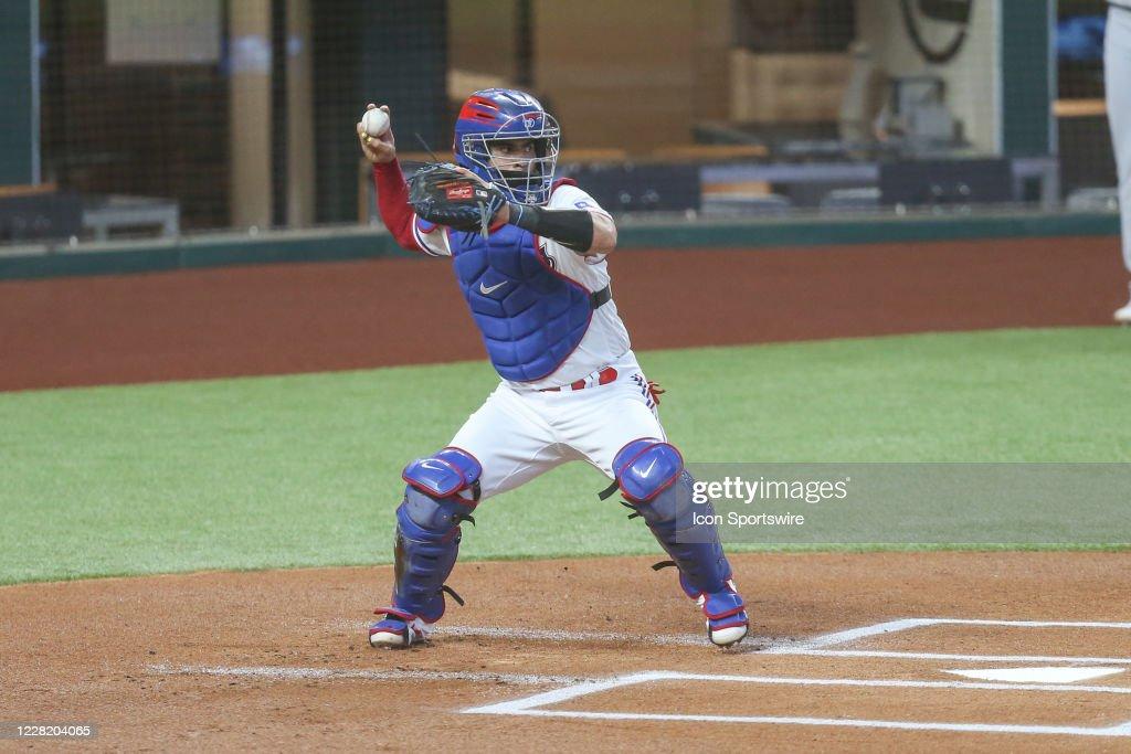 MLB: AUG 25 Athletics at Rangers : News Photo