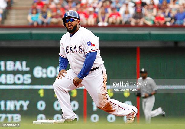 Texas Rangers First base Prince Fielder [4699] after being doubled up during a regular season MLB game between the Chicago White Sox and Texas...