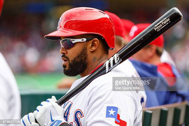 Texas Rangers First base Prince Fielder [4699] waits on deck during the home opener between the Texas Rangers and the Houston Astros played at Globe...
