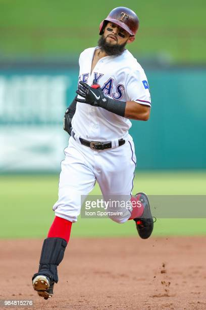 Texas Rangers Infield Rougned Odor circles the bases after hitting a home run during the game between the San Diego Padres and Texas Rangers on June...